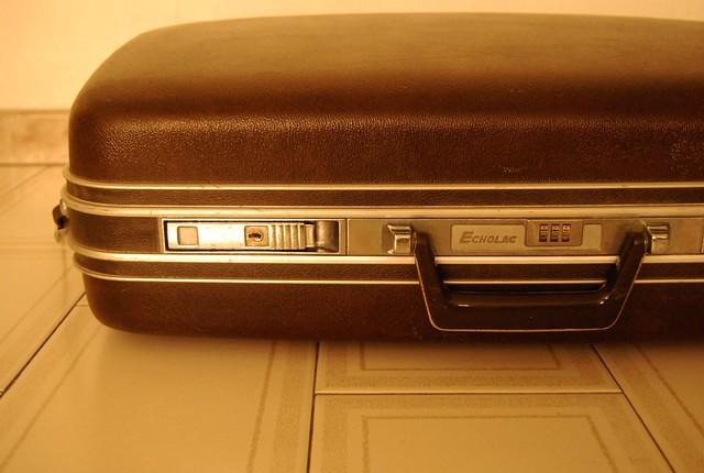 an Echolac suitcase