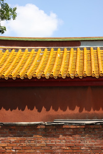 Confucian shrine roof and walls