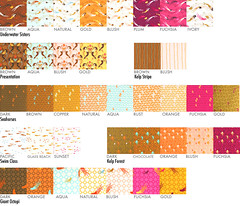 Mendocino Swatches (LULUBLOOM :: lucia) Tags: quilt fabric quilting swatches heatherross