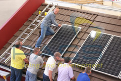 Solar Panel Course Snapshot - Everyone gets involved