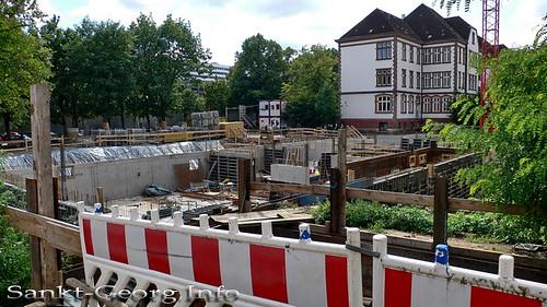 Neubau-Baustelle an der Brecht Schule in Hamburg St. Georg