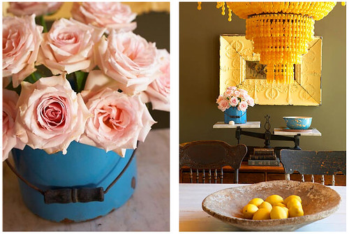 roses, home decor, yellow chandelier, jean allsopp photography