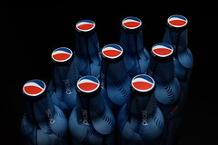 Pepsi, Pepsi & more Pepsi (Foto-Mike) Tags: lighting blue light red 2 food white black contrast canon studio eos bottle aluminum cola drink head tripod can pop cap pepsi soda dslr gels gel 580ex strobe manfrotto strobes speedlite 50d strobist 055xprob 808rc4