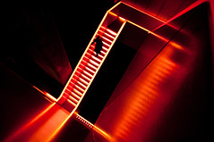 red stairs (mav_at) Tags: world light red reflection rot heritage museum stairs person licht essen scout treppe explore frontpage ruhrgebiet zollverein zeche weltkulturerbe europas kulturhauptstadt explored flickriver