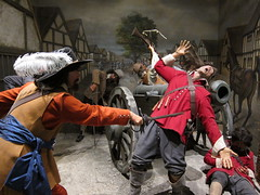 Pembroke Castle (David Biggins) Tags: castle hat wheel wales pembroke killing feather battle civilwar cannon sword cavalier fighting tableau pembrokeshire roundhead