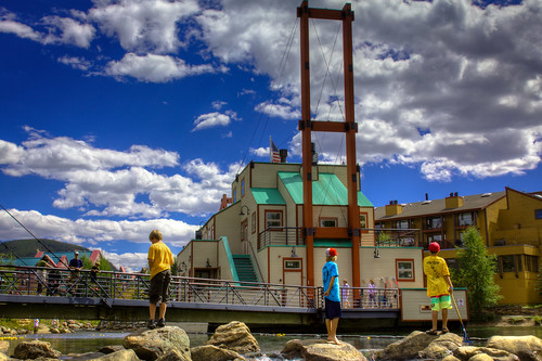 The Dredge During the Duck Race - Breckenridge, Colorado