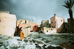 Tannery in Marrakech, Morocco (RvDario) Tags: blue orange dramatic arabic dirt morocco marrakech medina marrakesh tanning thunder moroccan tannery المدينة médina redcity jellaba القديمة مراكش medinaquarter marrākiš marrākuš