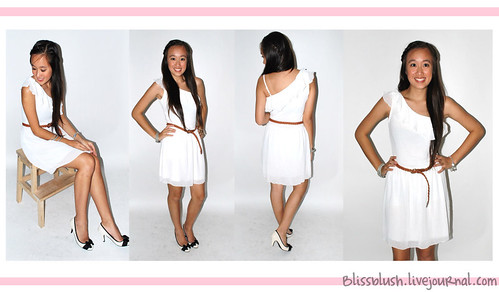 White Toga Dress