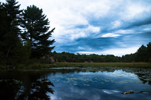 Stormfront clouds over Bog
