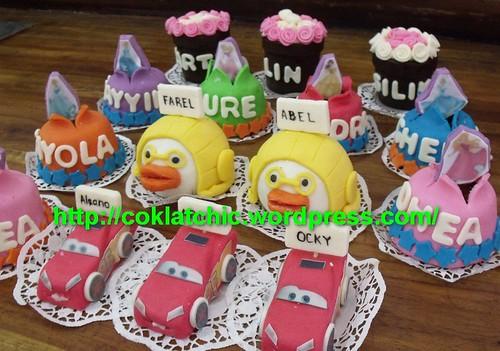 Mini Cake Cars Pororo Princess Pot Bunga Aleano Jual