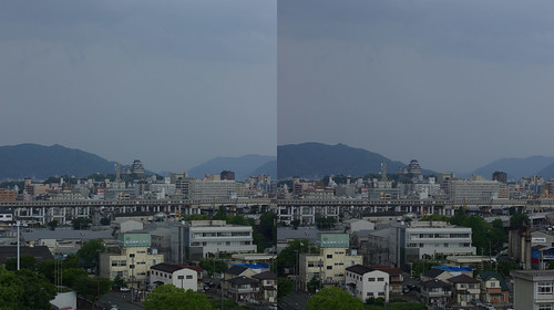 Central of Himeji, 3D parallel view