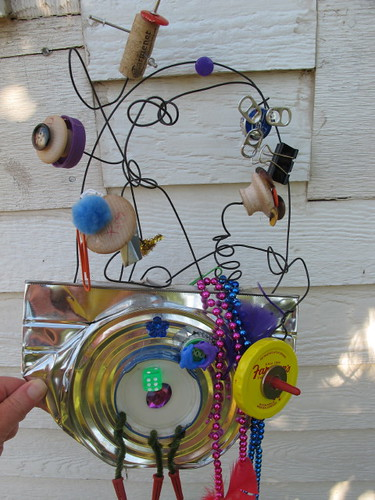 Recycled art wall hanging