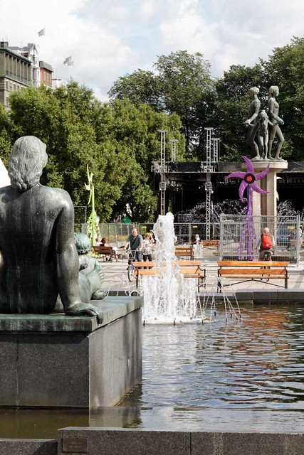 Statues and fountains in Oslo