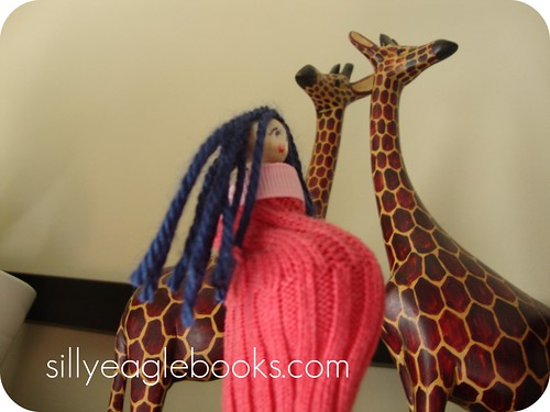 mommy doll and giraffes