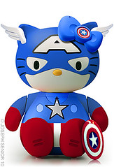 Hello Kitty Captain Amerikitty