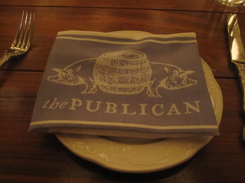 napkin at Publican