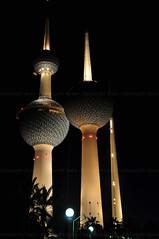 Kuwait Towers.. (OrangeRy ~ Sara) Tags: night dinner lens nikon sara shot towers archive saudi tall kuwait q q8   d90   10518