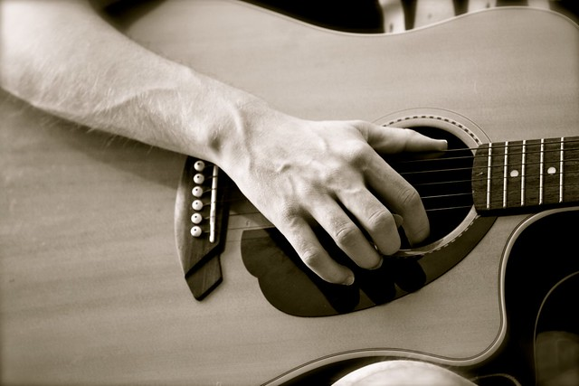 grant on guitar