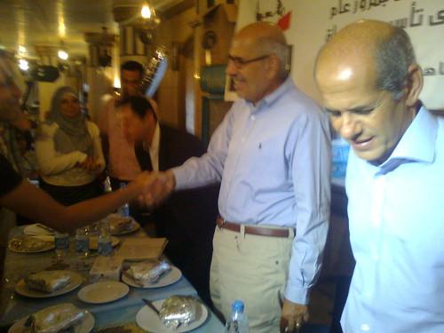 وصول البرادعى لافطار التغيير -رمضان 2010