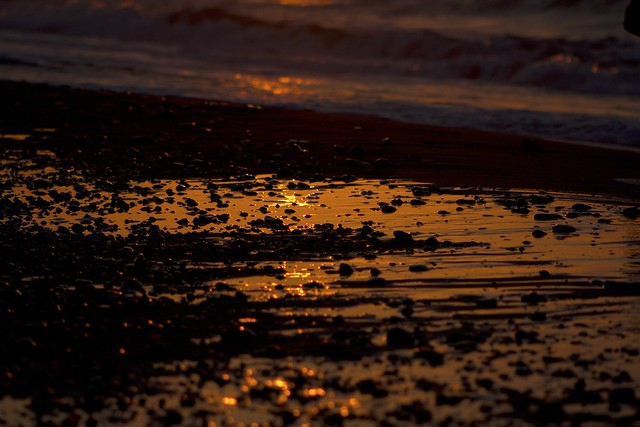 evening sky beach