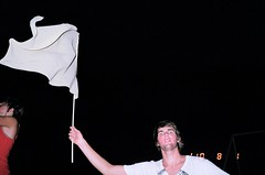 wavin' flag (lindsey.who) Tags: film 35mm dance brother flash andrew knaan seniorcoed wavinflag