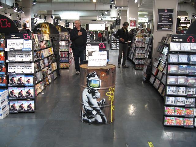 Banksy Installation HMV London Photo:© ArtLyst 2010