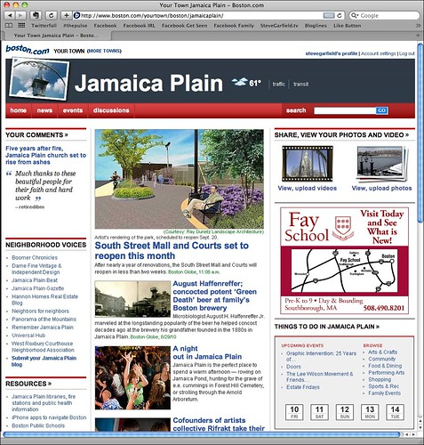 Boston.com Your Town: Jamaica Plain