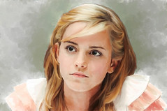 Retrato (zubillaga61) Tags: portrait painterly retrato emmawatson retouch hermione corelpainter