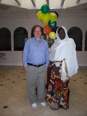 Fatou and me in her mosque