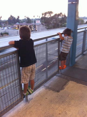 Watching the traffic at the Sierra Madre Villa station