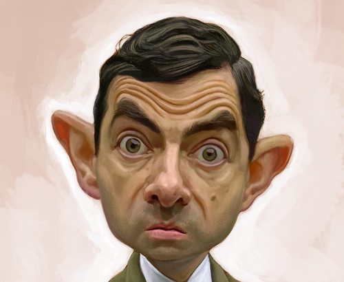 digital sketch of Mr Bean - 5 small