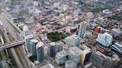 Below the CN Tower. (asaingurl) Tags: toronto buildings cntower olympus diorama 1442mm epl1