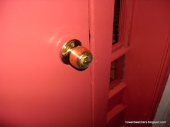 Replaced exterior door with Interior knob..