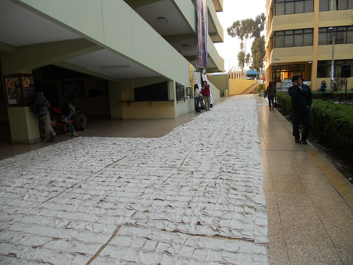 Carpet made up of 15k panels of the names of the disappeared