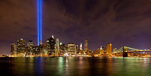 New York City 9/11 Memorial Lights