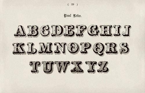 009-Alfabeto mayusculas perla-Examples of Modern Alphabets… 1913- Freeman Delamotte