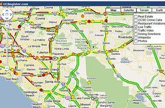Traffic map in the OC