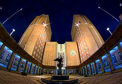 Oslo Rdhus - Oslo City Hall (Faisal!) Tags: city oslo norway architecture hall pentax fisheye nightshots 8mm natt rdhus samyang k10d