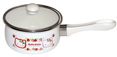 Hello Kitty Strawberry Saucepan (pkoceres) Tags: pink 2002 kitchen japan strawberry hellokitty sanrio pot pan cookware tableware dishware enamel enamelware        boughtonebay  hellokittystrawberry