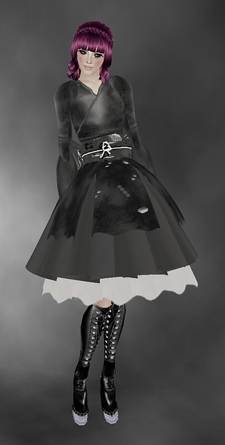 -Greymoon- Yukada Lolita Goth Doll Dress