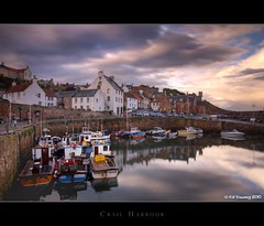 Crail Harbour (Kit Downey) Tags: uk longexposure water clouds coast scotland harbour august stormclouds latesummer bwfilter eastneukoffife crailharbour scottishcoast ndx1000 tokina1116mmf28 scottishharbour scottishfishing kitdowney canoneos550d canont2i canonrebelt2i