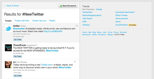 Twitter / Search - #NewTwitter