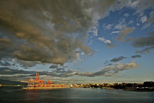 Vancouver Clouds and Cranes