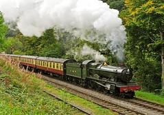 steam to spare (midcheshireman) Tags: wales train hall locomotive llangollen stram greatwestern 4953 pitchfordhall