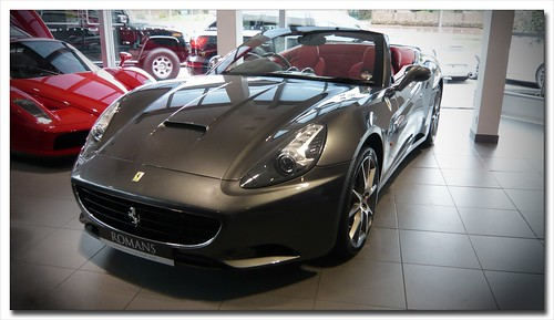 Ferrari California at Romans in Surrey