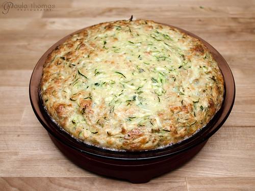 Zucchini Pie Cooked
