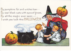 Halloween Vintage Reprint Postcard (crayolamom) Tags: halloween vintage postcard oldfashioned reprint