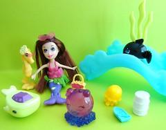 (Laila X) Tags: friends horse toys lila polly whale orca pocket mermaid tiki mattel finfin wowwee boatback cutants jellysquish