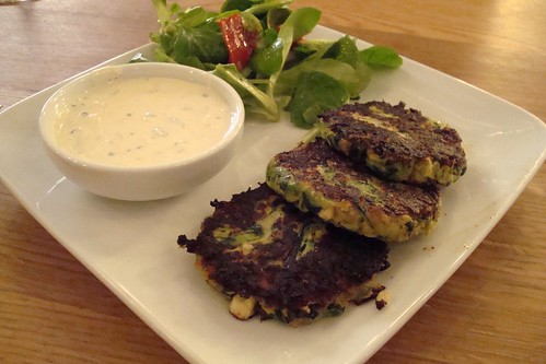 Zucchini Fritters at Momed