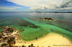 View from above Pulau Lengkuas (Belitung)